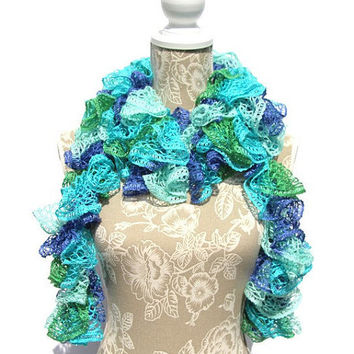 Best Crochet Ruffle Scarf Products On Wanelo