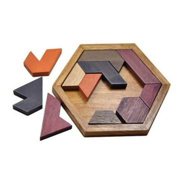 Kids Puzzles Wooden Toys Jigsaw Board Geometric Shape Children Educational Toys Intelligence Dimensional Puzzle Combination