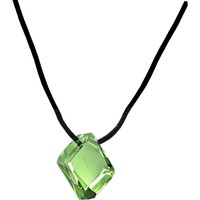 Peridot GALACTIC Leather Necklace Created with Swarovski Crystals