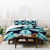 Chobopop Geometric Wolf Duvet Cover
