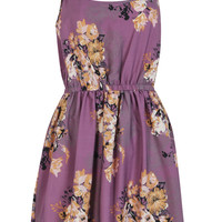 Phoebe Oriental Flower Strappy Dress