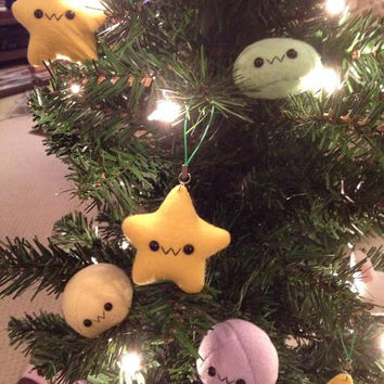 Kawaii Soft Plushie Star Buddy Plush Toy - Soft 2.5 in Fleece Toy- Stocking Stuffer Ornament