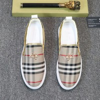 Burberry  Man Fashion Casual Shoes Men Fashion Boots fashionable Casual leather Breathable Sneakers