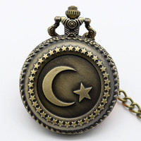 Vintage Turkish Flag Pocket Watch