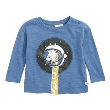 Rosie Pope | Giraffe in Space Graphic T-Shirt (Baby Boys) | Nordstrom Rack