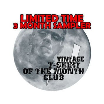 Vintage Mystery TShirt of the Month Club - 3 month subscription - Unique Gift Idea