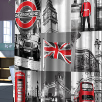 "London Charm PEVA Shower Curtain - 70"" x 72"""