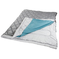 Coleman The Tandem 2 Person 81x66 In Sleeping Bag Grey/Blue