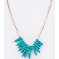Flintstone Statement Necklace | Teal