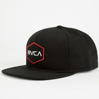 Rvca Badger Mens Snapback Hat Black One Size For Men 24474810001