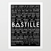 BASTILLE (LYRICS) Art Print by infinitum