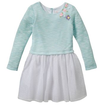 Youngland Rosette Tulle Dress - Girls
