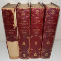 Works of Victor Hugo 4 Volumes University Edition NY Notre Dame, Les Miserables