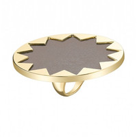 House of Harlow Ring- Sunburst Cocktail Ring- Khaki- FINAL SALE