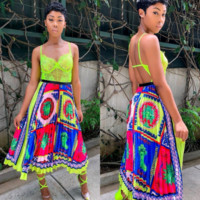 Versace Newest Fashion Women Print Skirt