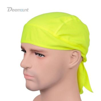 DCCKUH3 Outdoor Quick Dry Pure Cycling Cap Head Scarf Headscarf Headband Summer Men Running Riding Bandana Ciclismo Pirate Hat Hood