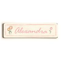 Personalized Girl's Name Wood Sign