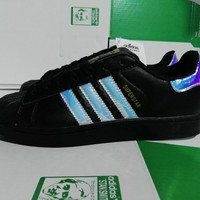 """""""Adidas"""" Superstar Shell toe Colorful laser Casual Sneakers"""