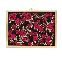Darla Embroidered Box Clutch