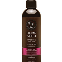 Earthly Body Hemp Seed Massage Lotion - 8 Oz Skinny Dip