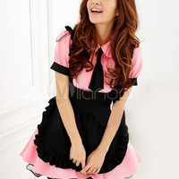 Tie Two-Tone Woman's Sexy Maid Costume - Milanoo.com