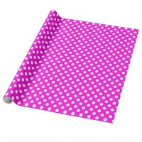 Pink With White Polka-dot Wrapping Paper