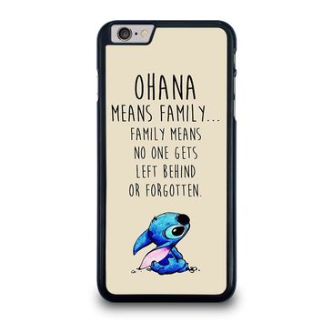 STITCH LILLO OHANA FAMILY QUOTES iPhone 6 / 6S Plus Case Cover