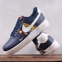 KUYOU N182 Nike Air Force 1 AR5583-400 Causal Skate ShoesDark Blue