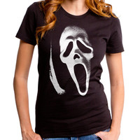 Scream Ghost Face Killer Women's Tee (FNW0011-502BLK) scary movies, masks, thriller, wes craven, halloween, horror, 90s movies, miramax