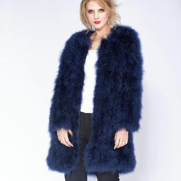 Ostrich Feather Winter Coat