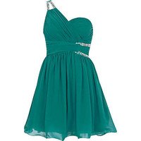 Green Little Mistress asymmetric dress