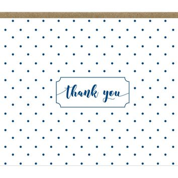 Navy Polka Dot Thank You Notes 5 pack