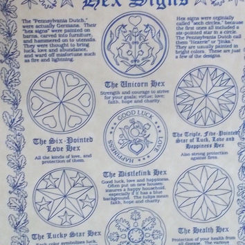 """Hex Signs Poster 8.5"""" x 11"""