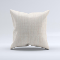 Tan Woven Fabric Pattern ink-Fuzed Decorative Throw Pillow