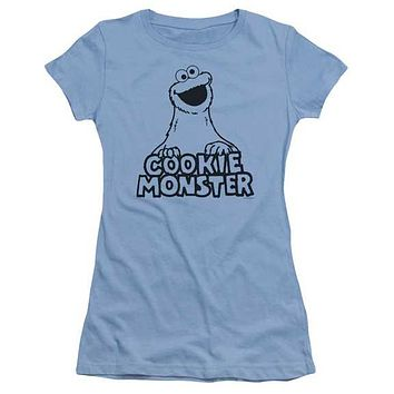 Sesame Street Vintage Cookie Monster Juniors Tee Shirt