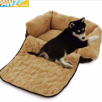 Pet Dog Cat Mutifunctional Luxury Sofa Warm Soft Mat Bed For Puppy Kitten Cotton Cushion Pad Cozy Kennel House Dog Furniture