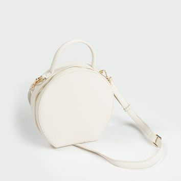 Laurie Ivory Round Handbag