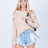 Cut Out Sweater Top