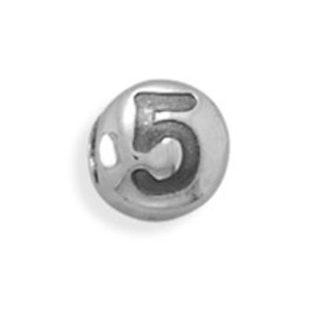 "Oxidized Number ""5"" Bead"