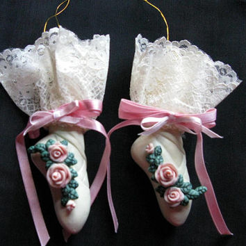 ballet ornament pointe shoes ballerina gift 2 ceramic
