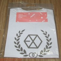 EXO 2014 SMTOWN SM TOWN LIVE OFFICIAL GOODS LOGO T-SHIRT SEALED