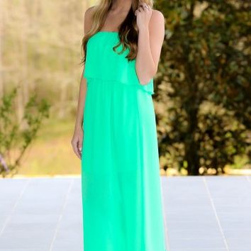Stepping Out Maxi Dress-Kelly Green