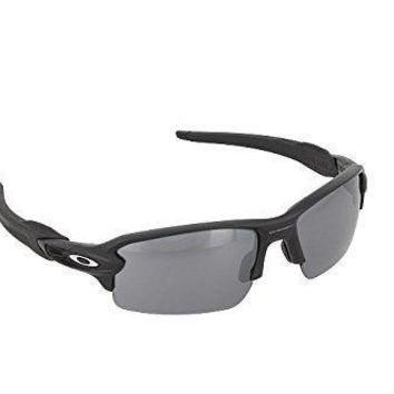 One-nice™ New OAKLEY Flak 2.O 9295-01 Polished Black Frame/ Black Iridium Sunglasses