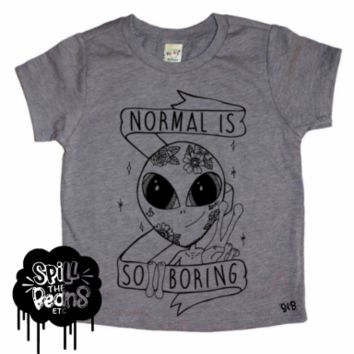 Normal Is So Boring Kid's Bodysuit or Tee