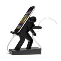 Generic Creative Mobile Phone Stand/ Holder for Iphone/ Ipod/ Mp3/ Touch (Model: M010434) (Black)