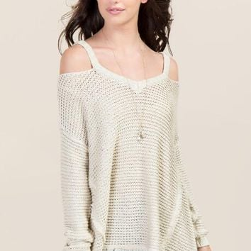 e27cdb253520c6 Jacey Cold Shoulder Pullover from francesca s