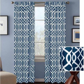BH&G Indigo Ironwork Curtain Panel 52 X 84