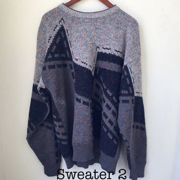 Vintage Sweater Hipster Sweater Oversized Vintage Sweater 90s Vintage Sweater 80s Vintage Sweater Tumblr Sweater Mens Vintage Sweater Unisex