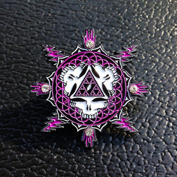 Purple Bolts of Sierpinski - Grateful Dead Lapel Hat Pins 1-100 limited edition