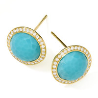 Ippolita Rock Candy 18k Gold Lollipop Diamond Stud Earrings